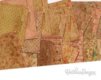 Shabby Vintage Paper Pack, Shabby Decoration, Retro Paper Pack, Vintage Paper Supplies, Digital Paper, Vintage Sheets, Decorative 002074