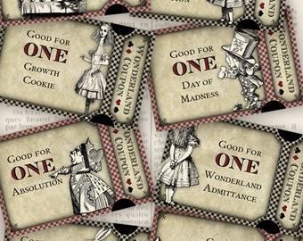 Alice in Wonderland Coupons - printable - VDCOAL1056