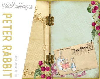 Peter Rabbit Journal Kit, Beatrix Potter DIY Kit, Printable Journal Kit, Junk Journal Digital, Craft Kit, Baby Shower Kit, New Baby  001984