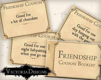 Friend Coupon Book, Love Coupons, Valentines Day Gift, Printable Coupon Book, Coupons For Kids, Valentines Coupons, Diy Coupons VD0346