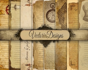 Steampunk Diary Pages, Steampunk Paper, Journal Pages, Digital Paper Journal, Junk Journal, Steampunk Notebook, Digital Download 000462