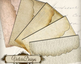 Vintage Envelopes, Shabby Elegant Envelopes, Printable Envelopes, Digital Envelopes, Retro Envelopes, Writing Letter Digital, Instant 000032