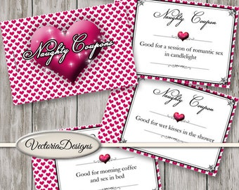 Sexy Coupons, Naughty Coupons, Love Coupons Book, Valentines Coupons, Gift For Women, Erotic Coupons, Book Template, Paper Craft VDCOER1584