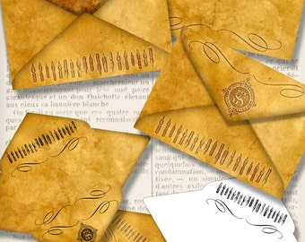 Antique Envelopes, Printable Envelopes, Mail Art Envelopes, Digital Letters, Scrapbook Envelopes, Embellishments, Vintage Letters 001299
