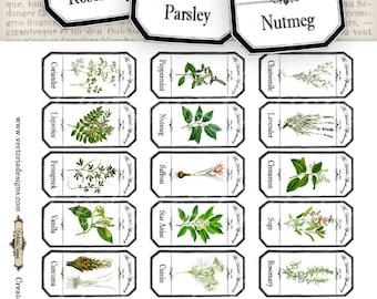 Mini Herbal Apothecary Labels - Save Ink - VDLAVI0832