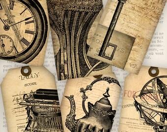 Ephemera Tags, Digital Gift Tags, Printable Tags, Vintage Tags, Digital Ephemera, Shabby Elegant Decor, Scrapbooking, Steampunk Tags 0386