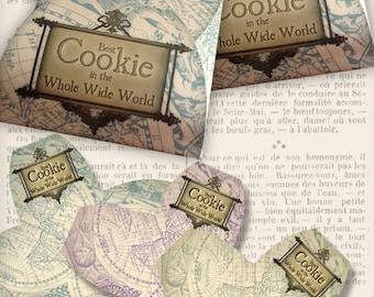 Best Cookie of the World Envelope paper crafting scrapbooking vintage printable images instant download digital collage sheet - VDBXVI1174