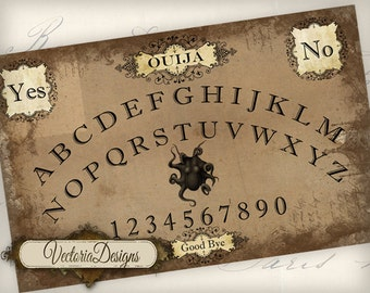 Printable Ouija Board Large Shabby Elegant instant download digital collage sheet VD0522