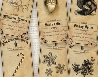 Mrs Claus Pantry Labels, Christmas Printables, Christmas Craft Hobby, Christmas Scrapbook, Christmas Decor, Christmas DIY, Xmas  000536