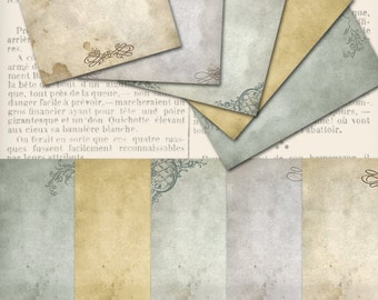 Stationery Paper, Digital Download, Shabby Elegant Paper, Writing Paper, Printable Stationery, Letter Paper Writing, Collage Sheets 000984