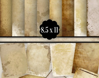 Coffee Colors Paper Pack 8.5 x 11 inch printable hobby crafting scrapbooking junk journal pages instant download digital sheet - VDPAVI1164