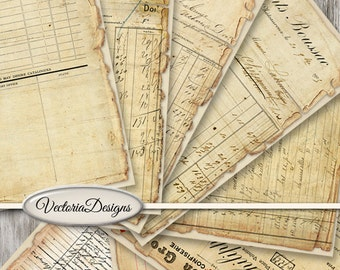 Vintage Ephemera Papers, Printable Papers, Decorative Paper, Scrapbook Paper, Digital Paper, Craft Paper, Junk Journal Ephemera 001414
