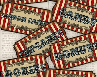 Circus Food Labels - VDLACI0931