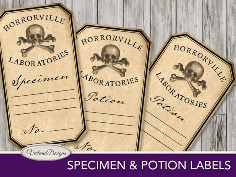 photo regarding Printable Trophy Labels known as Printable Specimen and Potion Labels Overwhelming Nuts Scientist Printable Halloween paper creating immediate obtain electronic sheet - VDAPHA1699