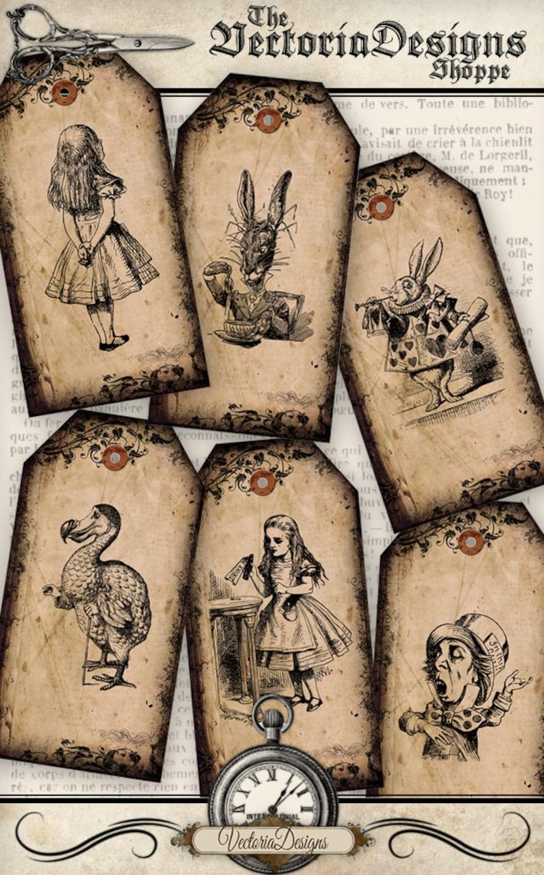 Alice in Wonderland Tags Printable