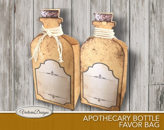 Halloween Apothecary Bottle Favor Bag