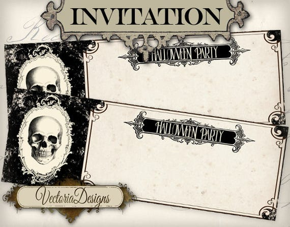 Halloween Ticket Invitation