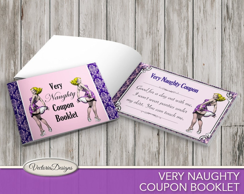 Very Naughty Coupon Booklet Sex Coupons Mens Gift image 0