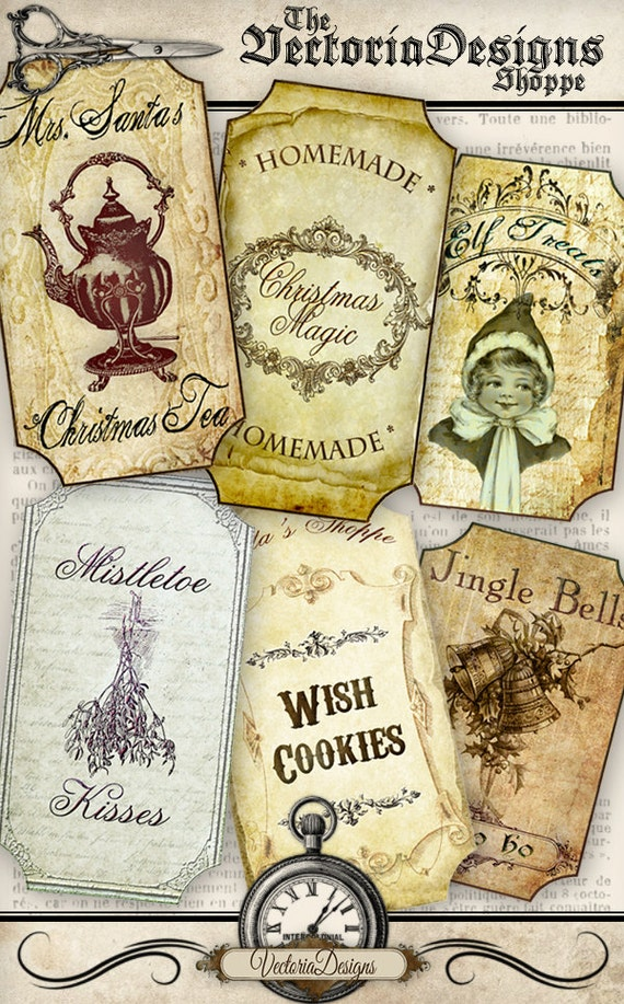 Christmas Apothecary Labels