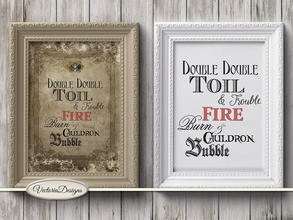 Halloween Quote Double Double Mini Posters