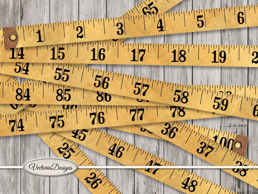 Vintage Tape Measure Printable Measuring Tape Retro Paper Crafting