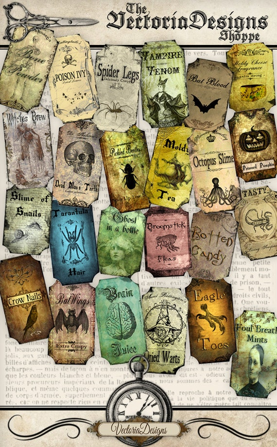 Mini Halloween Apothecary Labels
