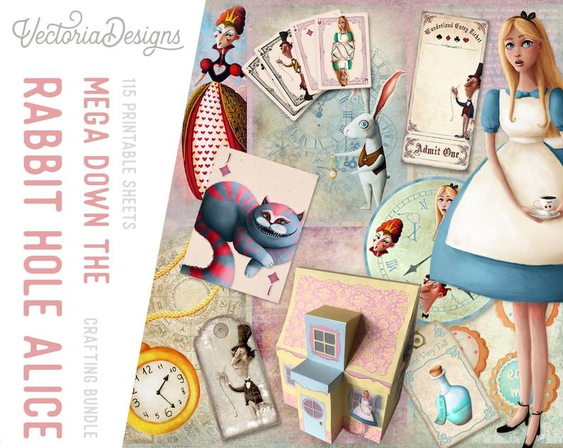 Alice In Wonderland Mega Crafting Bundle Mega Paper Pack image 0