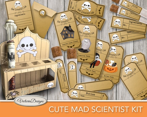 Cute Mad Scientist Kit