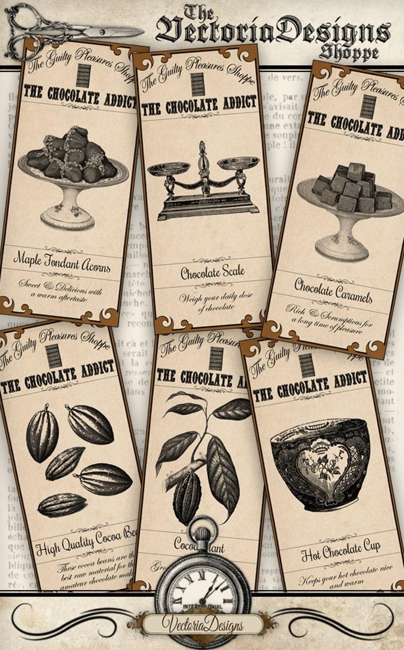 Chocolate Addict Labels VD0773