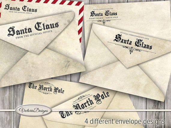 Official Santa Claus Envelopes