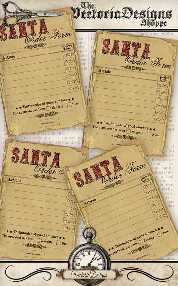Santa Order Form