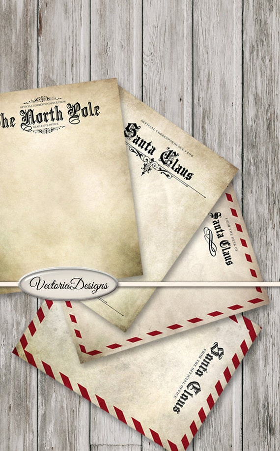 Santa Claus Letter Stationery