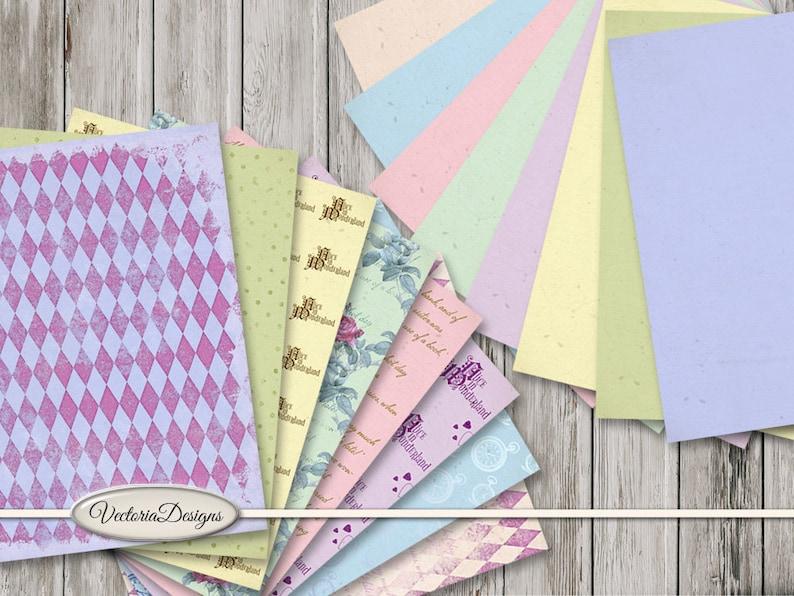 Alice in Wonderland Paper Inspired 8.5 x 11 Inch