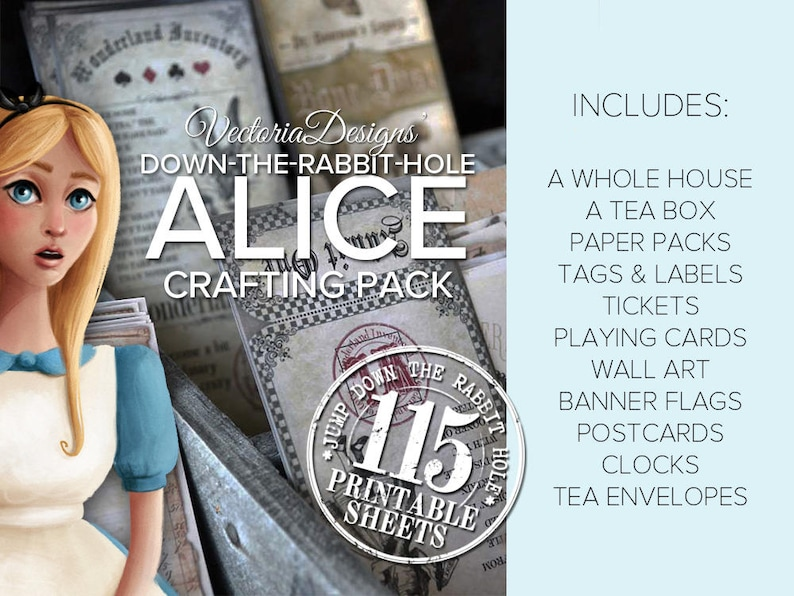 Alice in Wonderland MEGA Crafting Pack