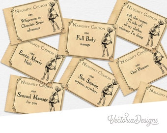 Love Coupons, Mens Gift, Naughty Coupons, Gift For Women, Erotic Coupons, Sex Coupons, Printable Coupons, Gift For Men, Party Coupons 000322