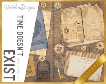 Time Doesn't Exist DELUXE Junk Journal Kit, Journal Printables, Ephemera Junk Journal, Junk Journal Supplies, Leonardo Da Vinci 002278