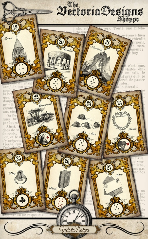 This is an image of Sweet Printable Tarot Cards