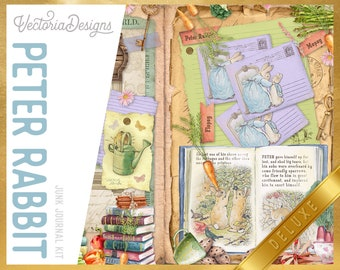 Peter Rabbit DELUXE Junk Journal Kit, Journal Printables, Ephemera Junk Journal, Junk Journal Supplies, Beatrix Potter, Baby Shower 002302
