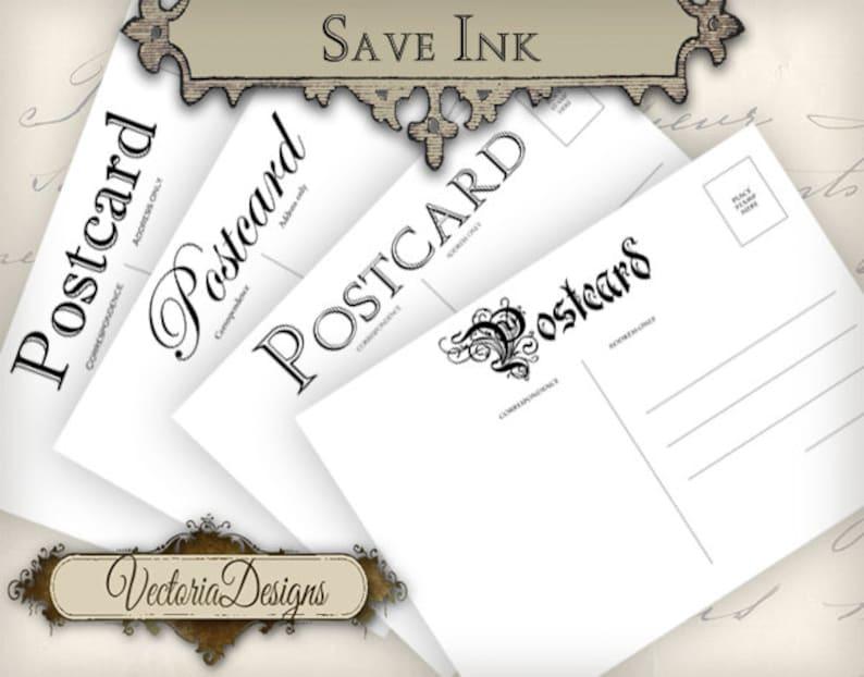 Vintage Postcards 5 x 3 5 inch save ink printable images instant download  digital collage sheet VD0692