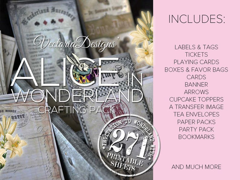 MEGA Alice in Wonderland Crafting Pack