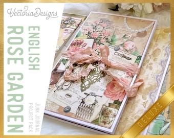 English Rose Garden DELUXE Junk Journal Kit, Printable Journal Kit, Digis Journal Kit, Junk Journal Ephemera, Scrapbook Journal Kit 002296