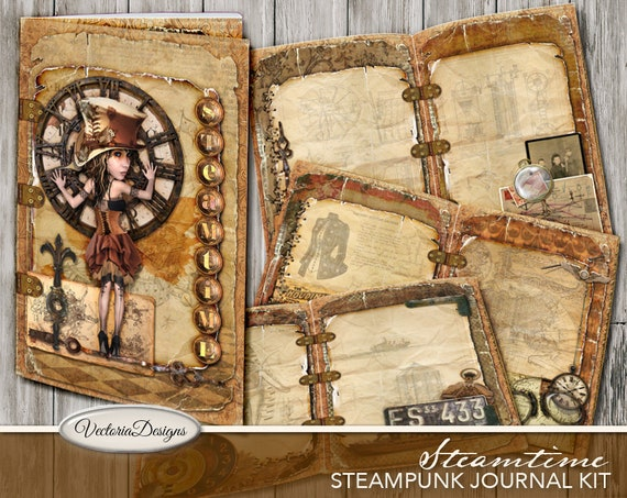 Steampunk Junk Journal Kit