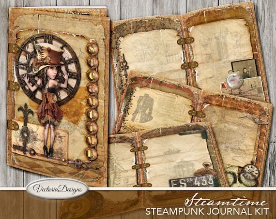 Steampunk Junk Journal Kit