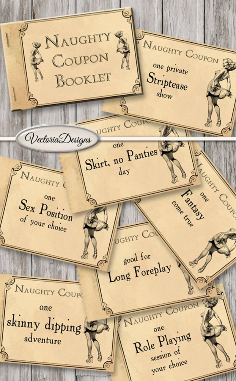 Printable Naughty Coupons Printable Man Gift Printable Woman image 0