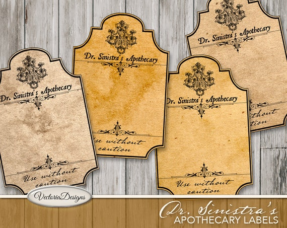 Dr. Sinistra's Halloween Apothecary Labels