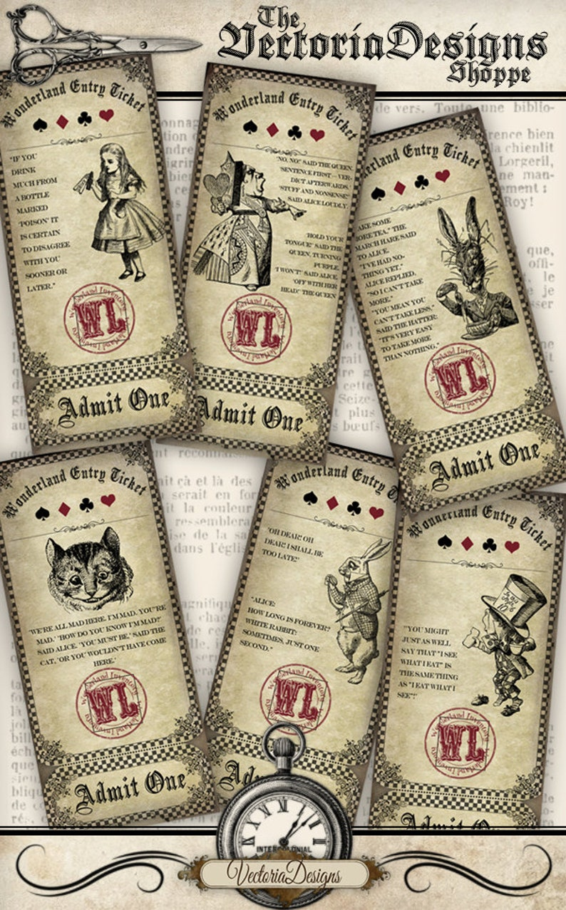 Alice in Wonderland Entry Tickets