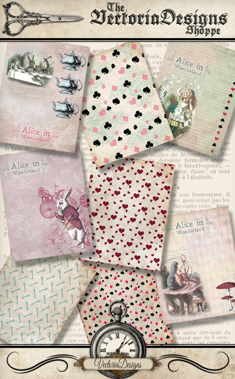 Alice in Wonderland Paper 8.5 x 11 inch