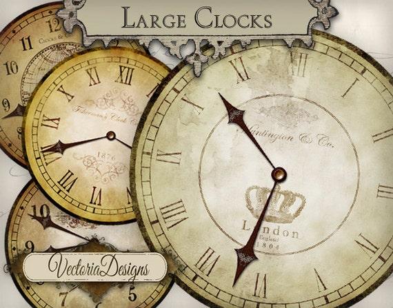 Printable Clocks Vintage Clock Images Hands