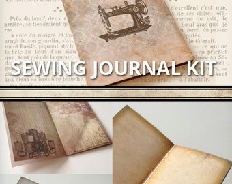 Sewing Journal Kit Printable Journal Junk Journal Pages Vintage printable paper craft hobby instant download digital sheet - VDKIVI1294
