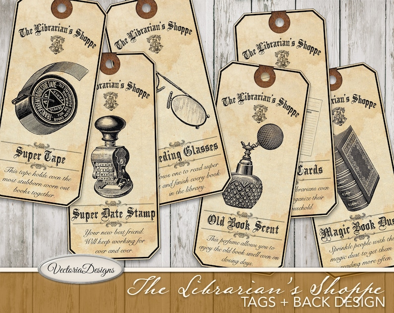 The Librarian's Shoppe Tags printable tags paper crafting image 0